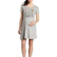 Lamaze Maternity Women's It's Not For Me Its For The Baby Knit Sleep Shirt