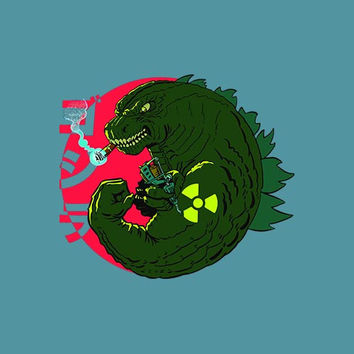 Godzilla Radioactive Adult Tee Shirt