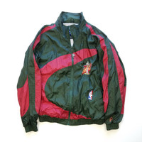 90s Vintage NBA Pro Player Seattle Supersonics Windbreaker size Large