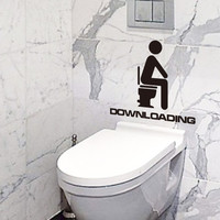 Bathroom Toilet Stickers Bathroom Stickers Waterproof Wall Decor SM6