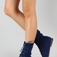 Breckelle Sandy-62 Lace Up Ankle Bootie
