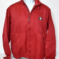 Mens Georgia Bulldogs UGA Jacket Size Med  Cutter & Buck Vented GO Dawgs!