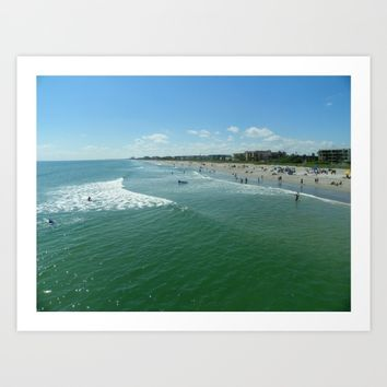COCOA Beach  Art Print by Annette Forlenza