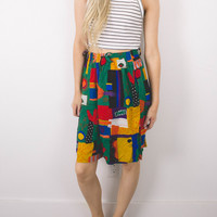 Vintage (SMALL) Geometric High Waisted Flowy Shorts