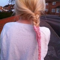 pink ombre fishtail - Google Search