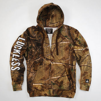 Luckless LLC | Luckless Camo Hooded Zip