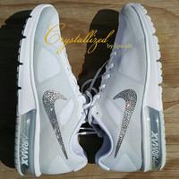 Amazing Swarovski Crystal Bling Bling Nike Air Max Sequent Air Sneakers