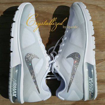 Amazing Swarovski Crystal Bling Bling Nike Air Max Sequent Air Sneakers 0d85a4242b