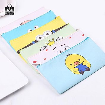 Women Portable Cartoon PU waterproof Multifunction Beauty Zipper Travel Cosmetic Bag Makeup Case Toiletry Pouch Pen Purse bags