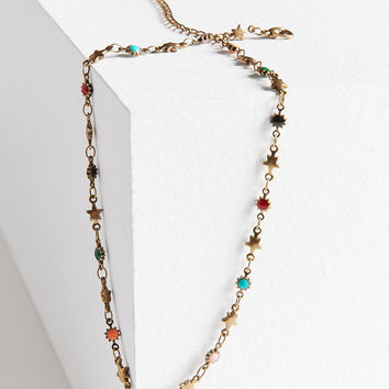 Fiona Beaded Charm Choker Necklace | Urban Outfitters