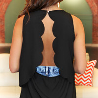 Cupcake Cutout Top - Black