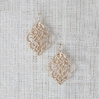Dangle Metal Filigree Earrings