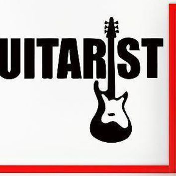 Wall Stickers Vinyl Decal Guitar Guitarist Rock Rock`n`Roll Music Decor Unique Gift (z2359)