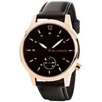 NOB Runtastic Moment Classic - Activity Tracker - Wrist - Calories Burned - Bluetooth - 0.94 - 0.59 - 1.65 - Rose Gold, Black - Glass, Mineral Crystal - Stainless Steel Case - Leather Band - Health & Fitness - Water Proof - Glass, Mineral Crystal