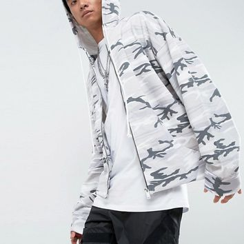 Mennace Hoodie In Desert Camo Print at asos.com