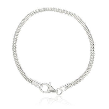 Real 925 Sterling Silver 7 Inch 3mm Real Snake Chain Bracelet