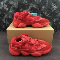 Adidas Yeezy 500 Desert Rat Red Sneakers - Best Online Sale