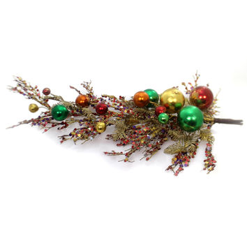 Christmas Multi Color Bulb Spray Christmas Decor
