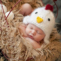 Hobees Cute Newborn Boy Girl Baby Costume Knitted Photography Props Chick hat