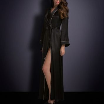 Classic Dressing Gown by Agent Provocateur - Classic Long Dressing Gown