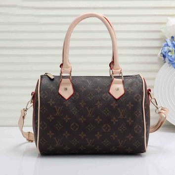 LV Classic Fashionable Women Shopping Leather Handbag Tote Crossbody Satchel