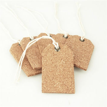 Natural Cork Tags, 2-1/4-inch, 6-pack