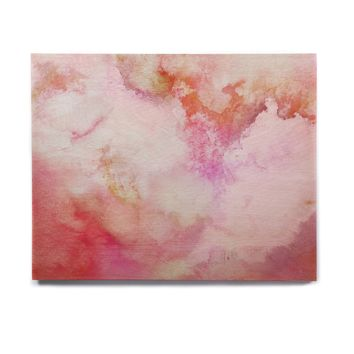 "Marco Gonzalez ""A 0 3"" Pink Magenta Abstract Modern Painting Mixed Media Birchwood Wall Art"