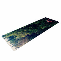 """Robin Dickinson """"Red In Woods"""" Forest Yoga Mat"""