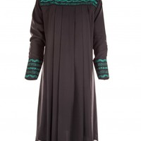 Black Chiffon Tunic With Embroidery | Tops | Citra Style | USA
