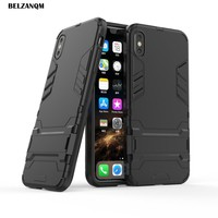 For iPhone Xs Case XS Max Case Hard PC Rugged Cases For iphone Xr XS Max Soft TPU Hybrid Armor Phone Cover Double Protect Slim