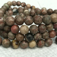 Petrified Wood Jasper, 6mm round, 16 inch strand