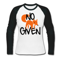 No Fox Given Women's Baseball T-Shirt - Women's Baseball Custom T Shirt Cheap