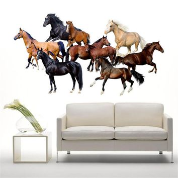 3D Horse Wall Stickers Wall Decals Vinyl Stickers Room Decor for Livingroom Bedroom Home Decoration