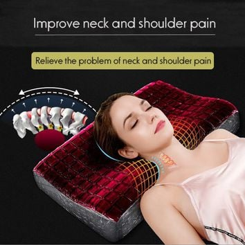 High Quality  Comfortable Repair Cervical Special Neck Protection Pillow Memory Foam Gel Massage Pillow For Improving Sleep
