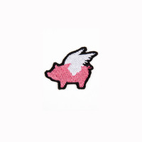 Glamour Kills - Mini GK Logo Pink Pig Patch