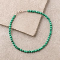High-Energy Malachite Anklet
