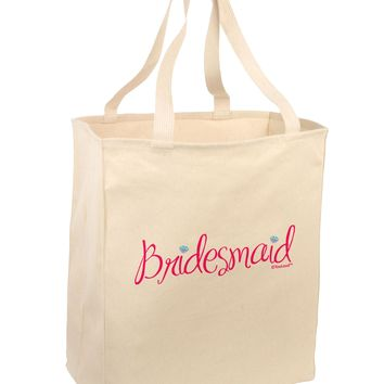 Bridesmaid Design - Diamonds - Color Large Grocery Tote Bag