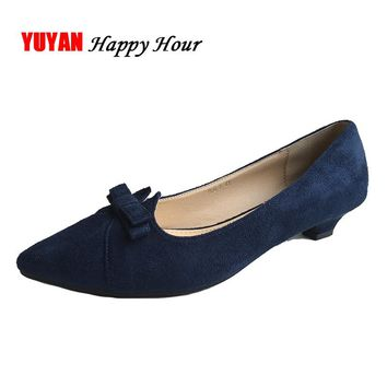 New Fashion Shoes Women High Heels Pointed toe Elegant Bowknot Women's Pumps Office Ladies Brand Shoes Low Heels 2.5cm ZH2321