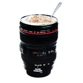 Stainless Lens Camera Lens Cup 24-105mm Travel Coffee Mug cup Thermos Tea