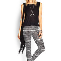 FOREVER 21 Tribal Print Leggings