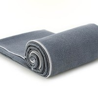 YogaRat Yoga Towel: 100% Microfiber with textured weave. Offered in three mat-length sizes and sold separately in hand-towel size.