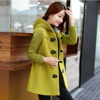 Women : Cute Cashmere Korean Coat YRB0578