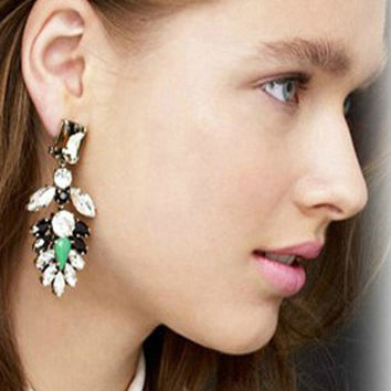 Lifestyle  Faceted Stones Drop Earrings