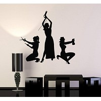 Vinyl Wall Decal Hairdressers Hair Salon Stylist Beauty Stickers Murals Unique Gift (ig4674)