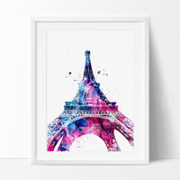 Eiffel Tower Paris Watercolor Print, French country, Art, France Art Print, Paris Watercolor, Paris Art Poster, Eiffel Tower Decor (101)