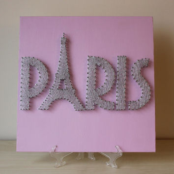 Eiffel Tower - Paris String Wall Art ,Wedding Present, Anniversary Gift, Bridal Shower Gift, Christmas Present