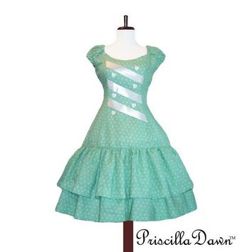 Minty I Love Me Dress Last one by priscilladawn on Etsy
