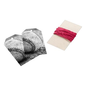 Baseball in Black and White Gift Tags
