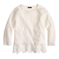 J.Crew Womens Eyelet-Panel Sweater
