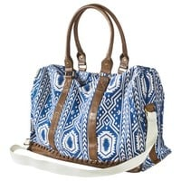 Mossimo Supply Co. Print Weekender Handbag - Blue/White